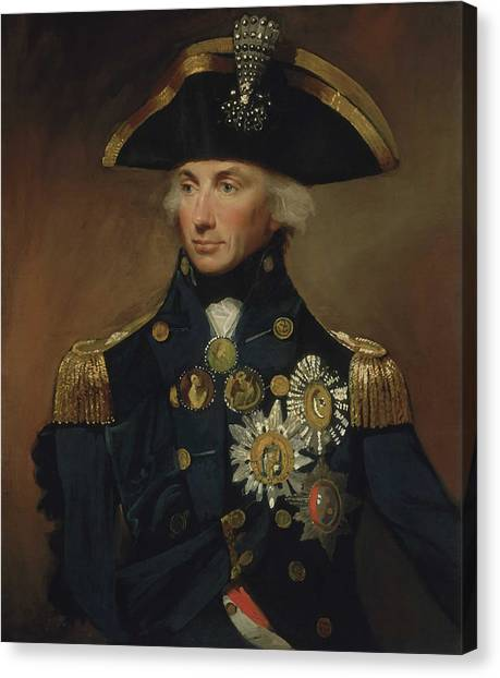 History Canvas Print - Admiral Horatio Nelson by War Is Hell Store