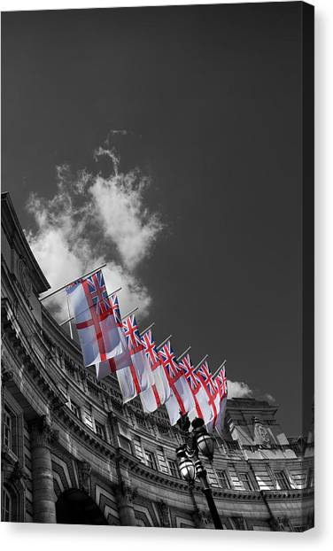 St George Canvas Print - Admiralty Arch London by Mark Rogan