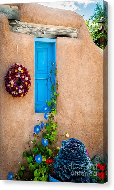 Adobe And Blue Canvas Print