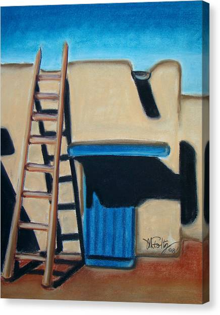 Adobe Ladder Canvas Print