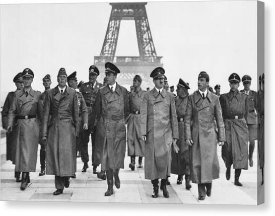 Adolf Hitler Touring Conquered Paris Canvas Print by Everett