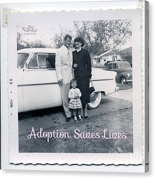 Adoption Saves Lives Canvas Print