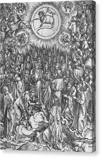 67 Canvas Print - Adoration Of The Lamb by Albrecht Durer or Duerer