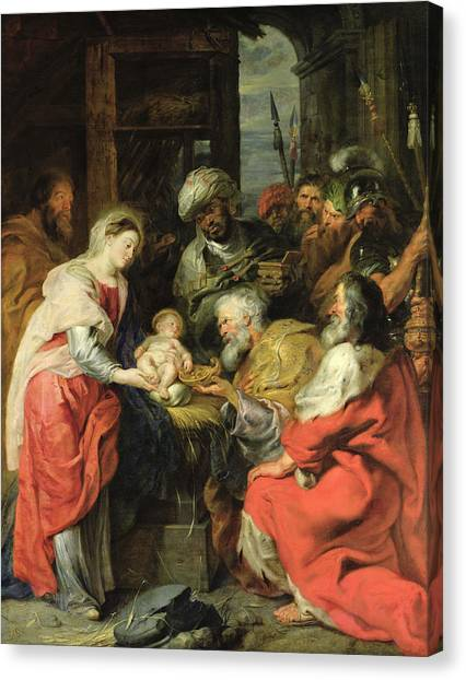 Caspar Canvas Print - Adoration Of The Magi, 1626-29 Oil Canvas by Peter Paul Rubens