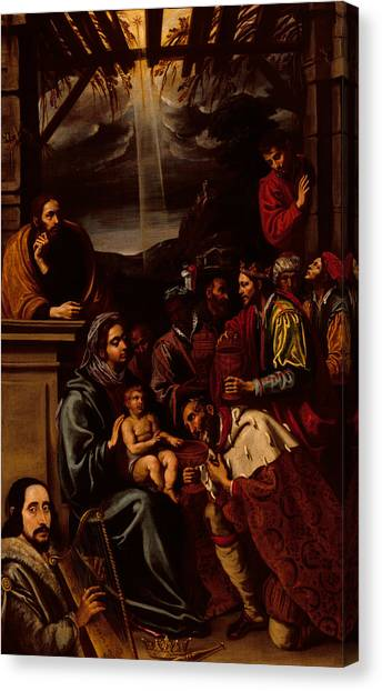 Messiah Canvas Print - Adoration Of The Magi by Unknown