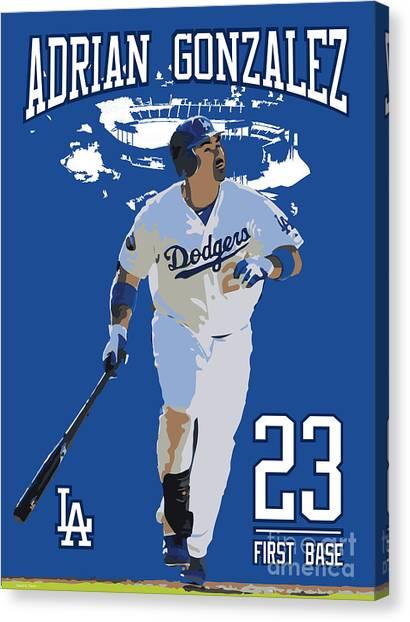San Diego Padres Canvas Print - Adrian Gonzalez by Israel Torres