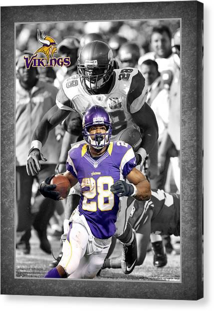 Minnesota Vikings Canvas Print - Adrian Peterson Vikings by Joe Hamilton
