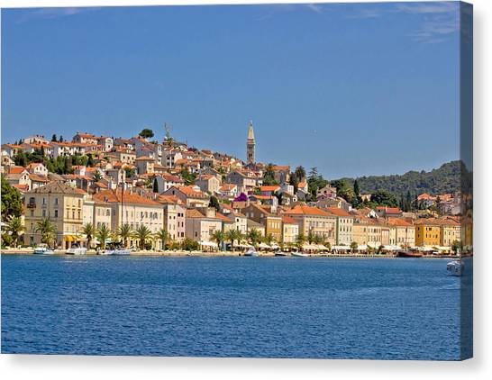 Adriatic Town Of Mali Losinj View From Sea Canvas Print