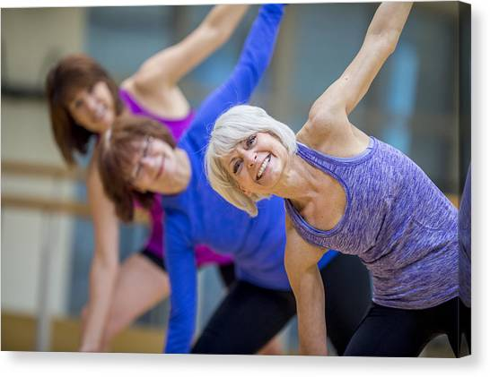 Adult Fitness Class Canvas Print by FatCamera