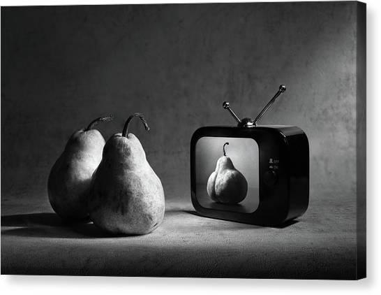 Pears Canvas Print - Adult Tv (version 2) by Victoria Ivanova