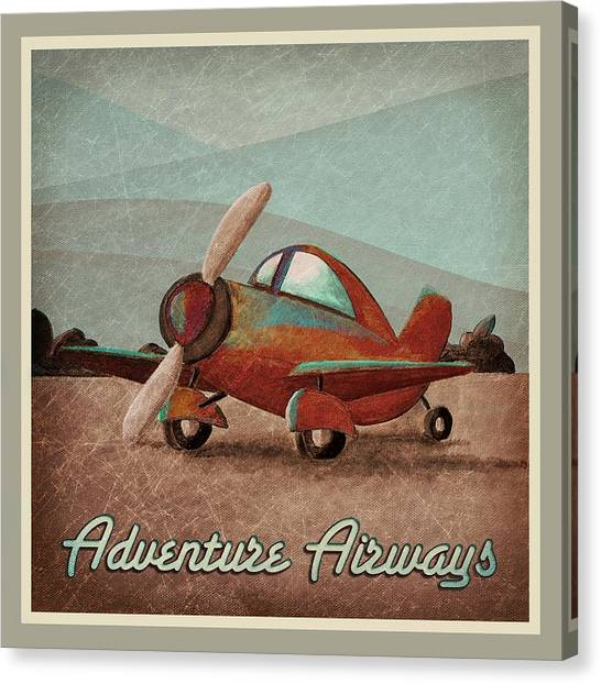 Toy Airplanes Canvas Print - Adventure Air by Cindy Thornton