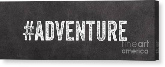 Black And White Art Canvas Print - Adventure  by Linda Woods