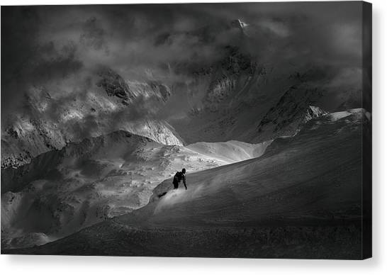 Snowboarding Canvas Print - Adventure With Concerns by