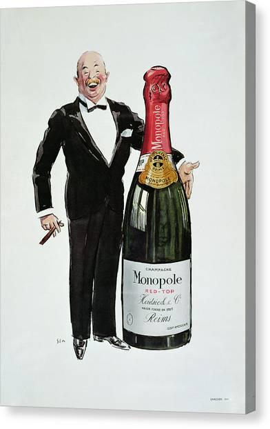 Goursat Canvas Print - Advertisement For Heidsieck Champagne by Sem