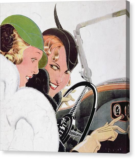 Motoring Canvas Print - Advertisement For Solex Carburettors by Rene Vincent