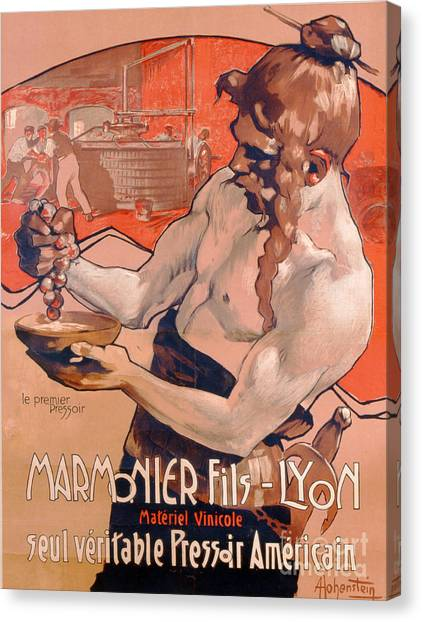 Viking Art Canvas Print - Advertisemet For Marmonier Fils Lyon by Adolfo Hohenstein