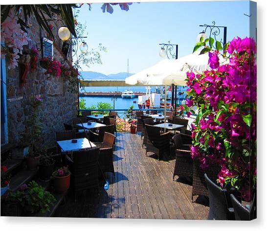 Aegean Cafe Canvas Print