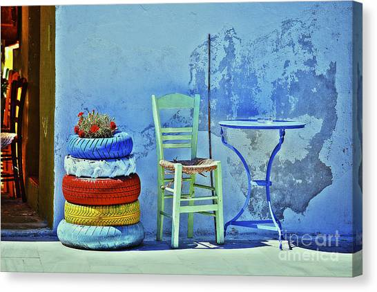 Aegean Colours Canvas Print
