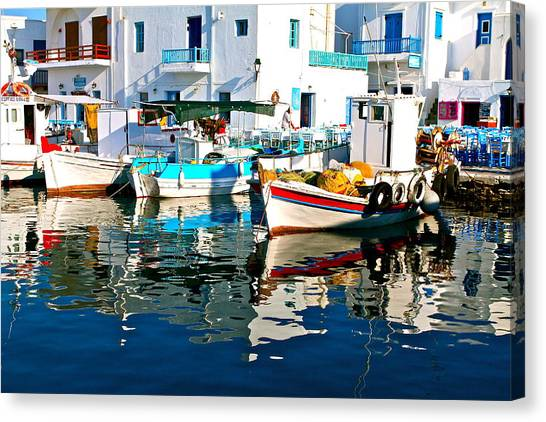 Aegean Harbor  Canvas Print