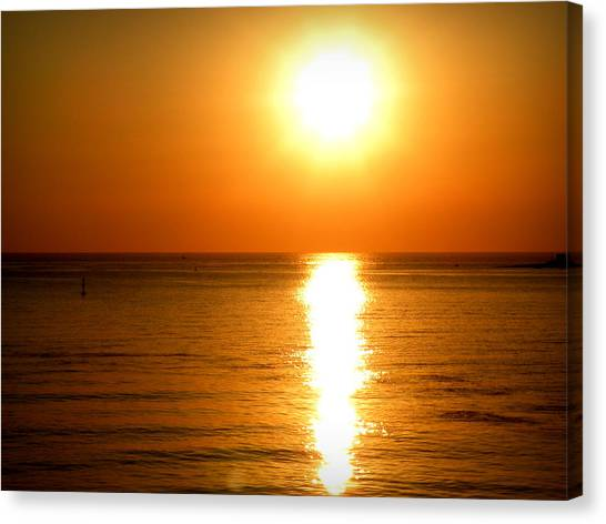 Aegean Sunset Canvas Print