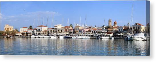 Aegina Town Harbour  Canvas Print