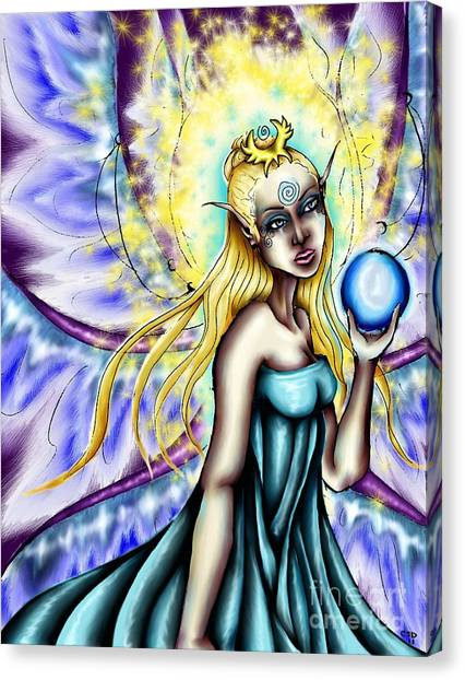 Aene's Light Canvas Print by Coriander  Shea