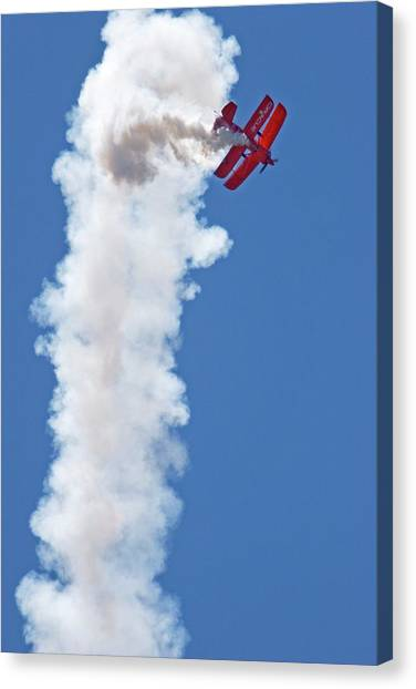 National Guard Canvas Print - Aerial Acrobatics Display by Jim West