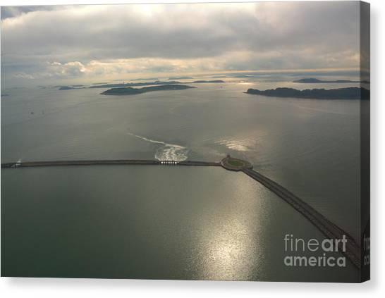 Aerial Causeway Canvas Print