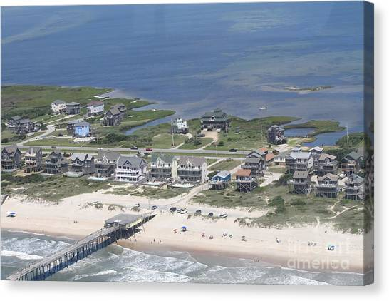 Aerial Frisco Pier 2 Canvas Print