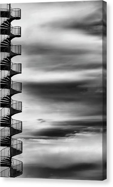 Spiral Canvas Print - Aerial Helix by Tomoshi Hara