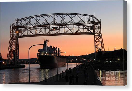 Canvas Print - Aerial Lift Bridge by Lori Tordsen