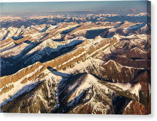 Bob Wall Canvas Print - Aerial Of The Rocky Mountains by Chuck Haney