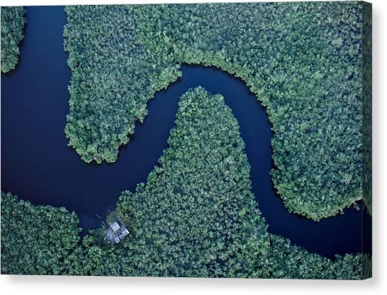 Congo River Canvas Print - Aerial Of The Zaire River, Muanda by Robert Caputo