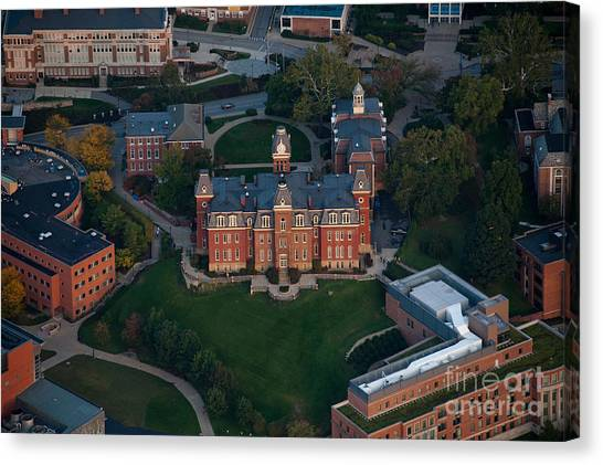 Aerial Of Woodburn Hall Canvas Print