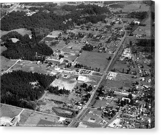 Canvas Print featuring the photograph Aerial Over City Of Lacey #2 by Merle Junk