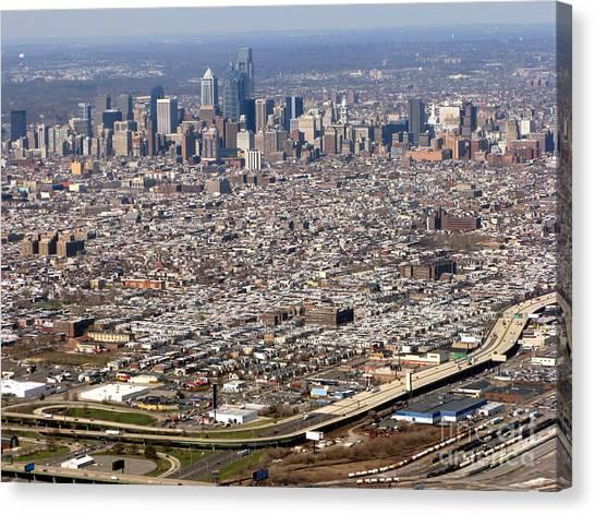 Philadelphia Phillies Canvas Print - Aerial Philadelphia by Olivier Le Queinec