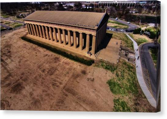 The Parthenon Canvas Print - Aerial Photography Of The Parthenon by Dan Sproul