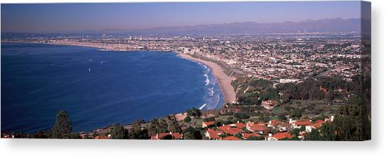 Beverly Hills Canvas Print - Aerial View Of A City At Coast, Santa by Panoramic Images