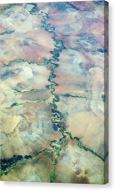 Deforestation Canvas Print - Aerial View Of A River by Dr P. Marazzi
