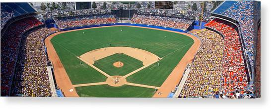 Houston Astros Canvas Print - Aerial View Of A Stadium, Dodger by Panoramic Images