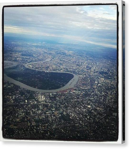 Metropolis Canvas Print - Aerial View Of Bangkok by Andrew Scott