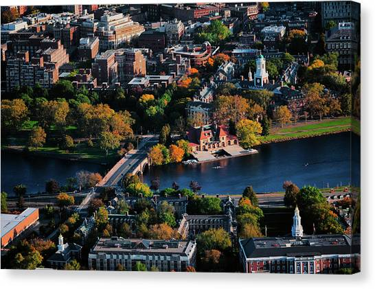 Harvard University Canvas Print - Aerial View Of Cambridge And Anderson by Panoramic Images