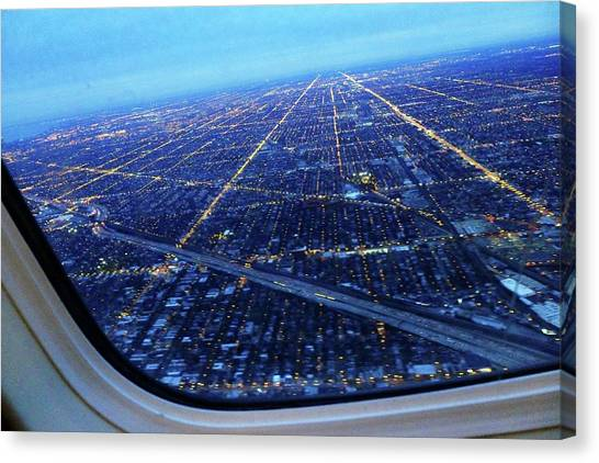 Aerial View Of Cityscape Seen Through Canvas Print by Sujata Jana / Eyeem