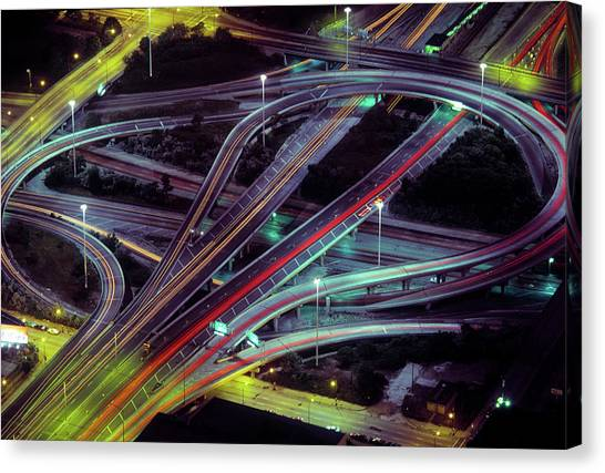 Interstates Canvas Print - Aerial View Of Dan Ryan Expressway by Panoramic Images