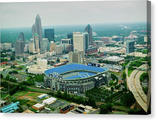Carolina Panthers Canvas Print - Aerial View Of Ericcson Stadium by Panoramic Images