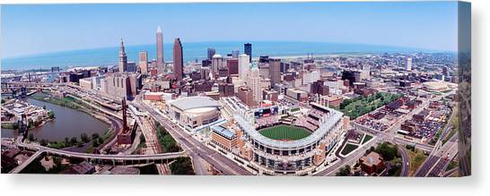 Cleveland Indians Canvas Print - Aerial View Of Jacobs Field, Cleveland by Panoramic Images