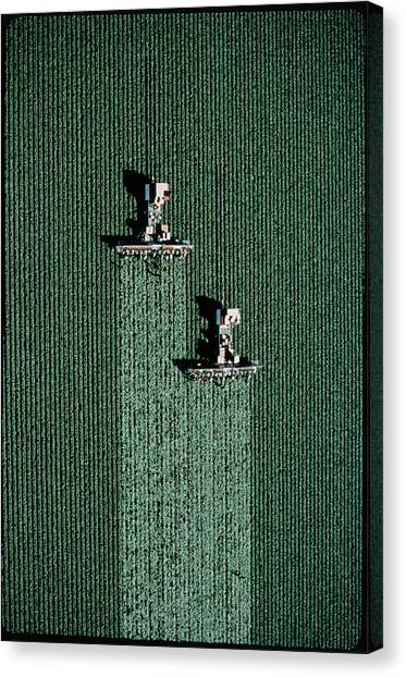 Lettuce Canvas Print - Aerial View Of Lettuce Being Harvested by Peter Menzel/science Photo Library