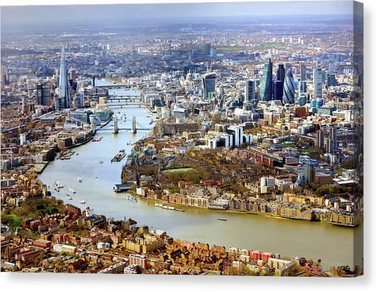 Aerial View Of  London Canvas Print by Vladimir Zakharov