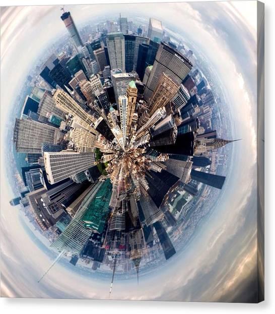 Aerial View Of Modern City Canvas Print by John Mcintosh / Eyeem