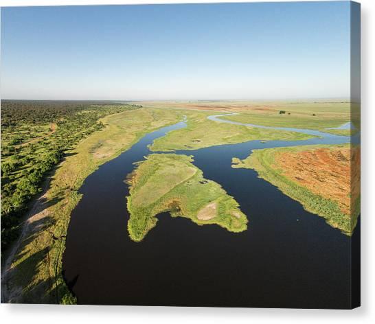 Kalahari Desert Canvas Print - Aerial View Of Okavango Delta, Chobe by WorldFoto